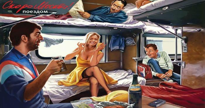 Эротические картинки прямиком из СССР в стиле пин-ап